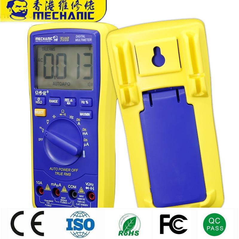 25PCS MECHANIC Fully Automatic Digital Display High Precision Universal Meter Intelligent Speech Broadcast Measuring Instrument