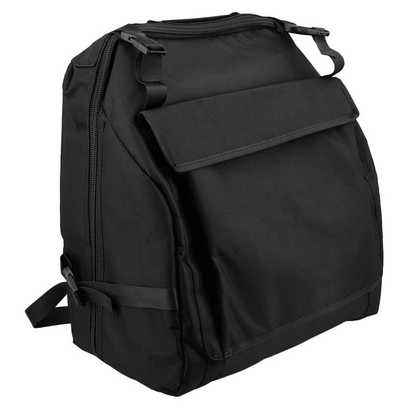 Bolsa de almacenamiento de acordeón de tela negra Oxford para 48 acordeón bajo