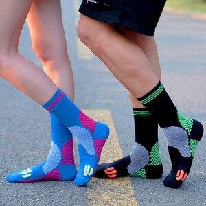 Professional Men Compression Socks Breathable Running Sports Socks 20-30mmHg Outdoor Shockproof Marathon Women Cycling Socks