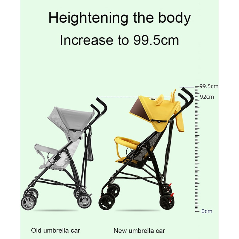 Lightweight baby stroller, easy to carry, sit and lie, simple foldable mini breathable umbrella trolley, one-click retract enlarge