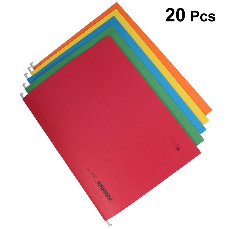 20PCS Suspension Folder Hanging  Documents  Desktop Office Supplies Notebook Binder Files Reports Binder