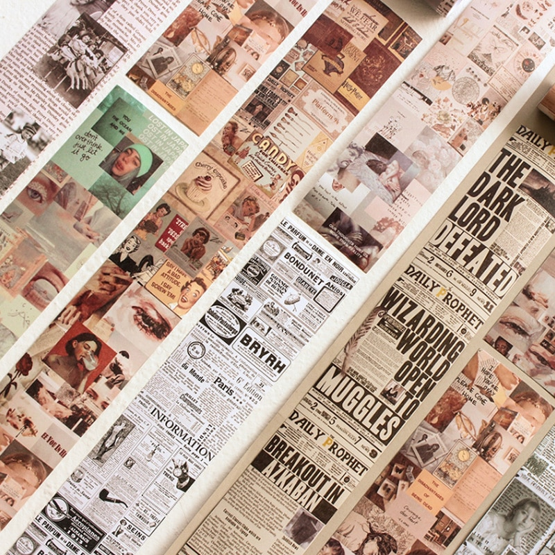 Фото - 6.4*46cm Vintage Newspaper Post Washi Tape DIY Deocrative Scrapbooking Planner Bullet Journal Masking Tape Stickers Stationery vintage newspaper