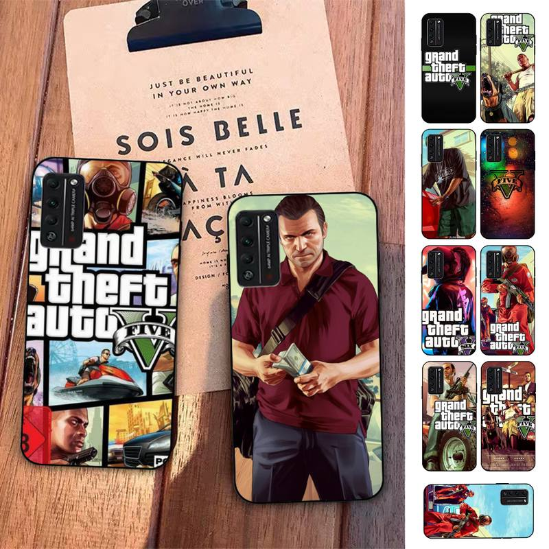 FHNBLJ rockstar gta 5 Grand Theft Phone Case for Huawei Honor 8 9 10 5A 30 20 pro lite 8X 8C