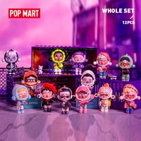 POP MART Whole Box Skullpanda Hypepanda Series Collection Doll Collectible Cute Action Kawaii animal toy figures free shipping