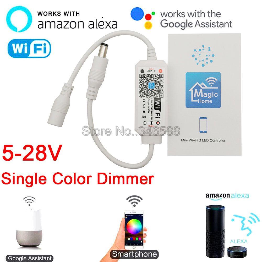 Magic Home Mini WiFi LED Dimmer Controller 5-28V Phone App Amazone Alexa Google Home Voice Control f