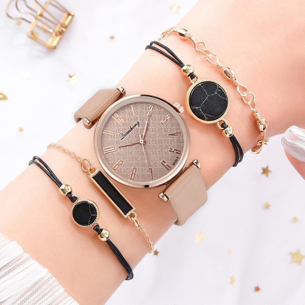 Минималистичные кожаные часы для женщин Простые черные повседневные часы кварцевые часы женские наручные часы 2019 подарок Reloj Mujer