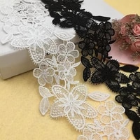 water soluble milk silk embroidery lace high quality computer embroidery hollow lace curtain skirt accessories