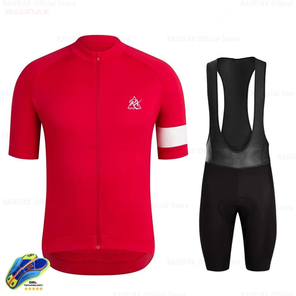 Raudax-Conjunto de ropa de Ciclismo para hombre corte traje de manga corta...