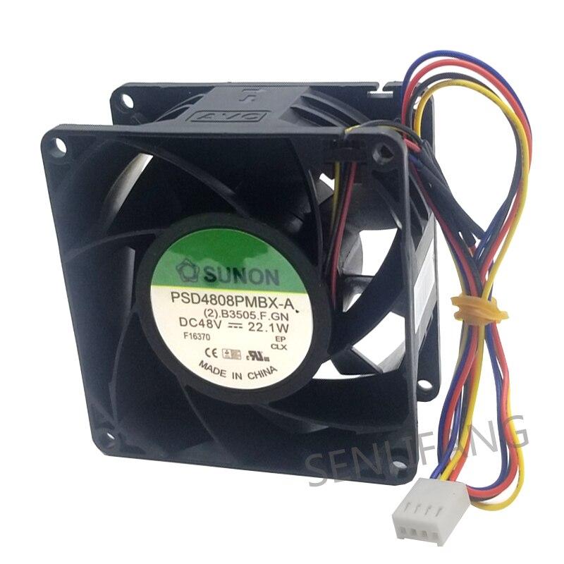 Nuevo ventilador de calor diaspora de eje original de 48 v PSD4808PMBX-A, radiador 8038, un año de garantía