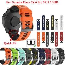 JKER 22 26MM Quick fit Watchband Strap for Garmin Fenix 6X Pro Watch Silicone Easyfit Wrist Band For Fenix 6 Pro Watch Strap