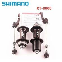 SHIMANO XT-M8000 vtt 32 trous moyeu de verrouillage central une paire avec dégagement rapide pour vélo à cassette 8/9/10 /11 vitesses