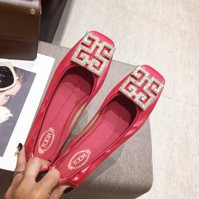 Big Size Women Flats Candy Color Shoes Woman Loafers Square Toe Slip on Fashion Flat Casual Shoes Woman Zapatos Mujer Size 43 animal print flat shoes women plus size slip on loafers point toe snake shoes casual ballet flats comfort driving shoes woman