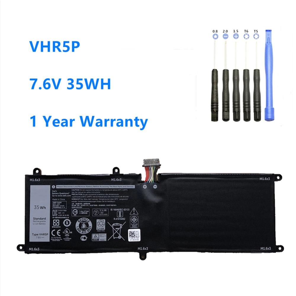 VHR5P Laptop battery For DELL Latitude 11 5175 Tablet battery XRHWG RHF3V VHR5P 7.6V 35WH