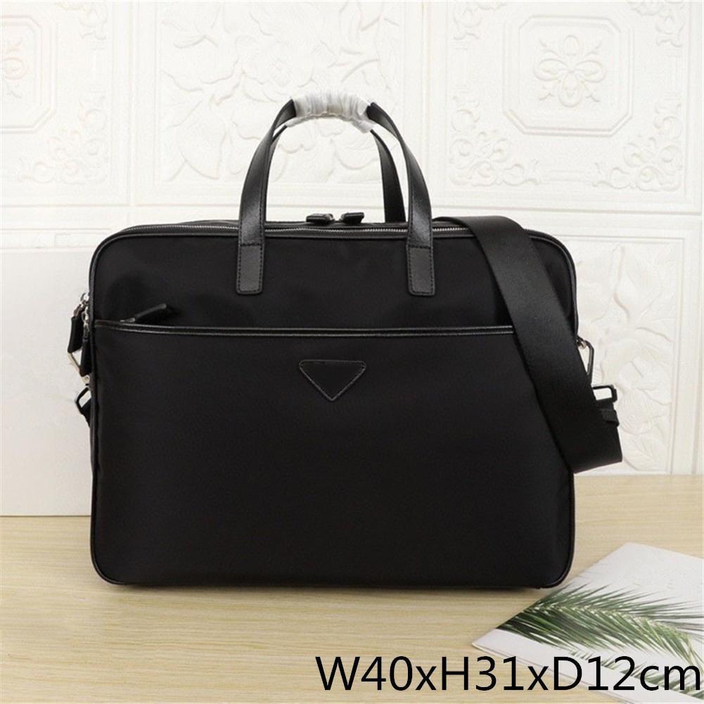 2021 Men's Black Waterproof Nylon Designer Briefcase High Quality Laptop Bag Large Capacity Retro Fashion Office Handbag
