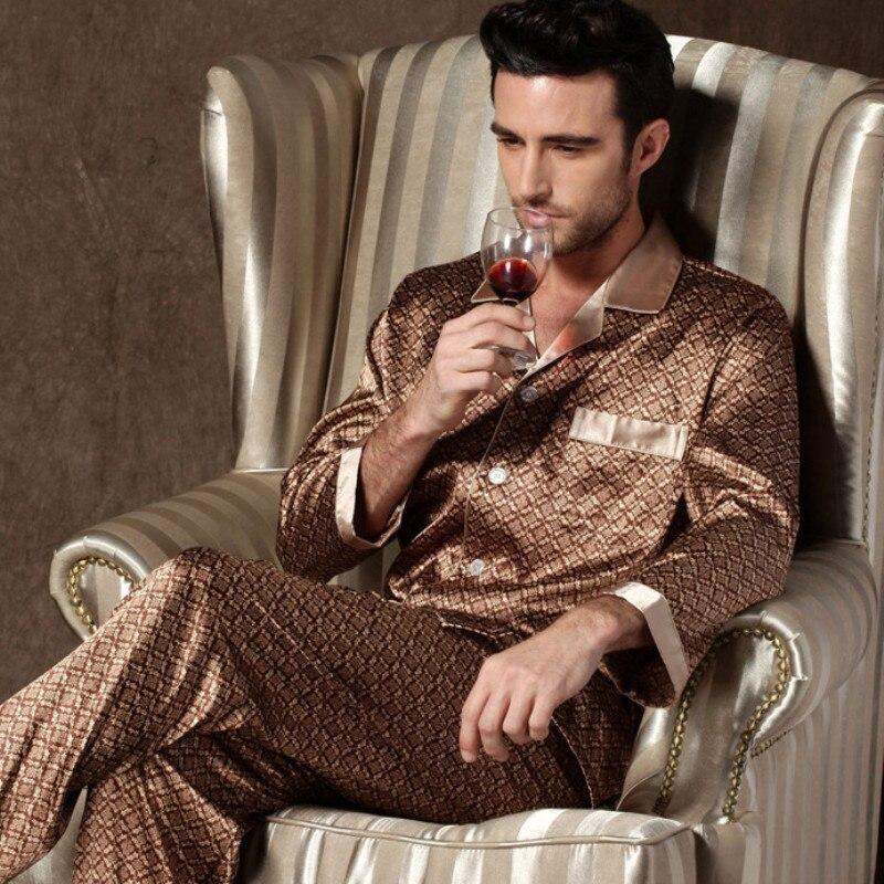 Летняя одежда для сна, для мужчин, одежда для мальчиков, Хлопковая пижама, комплекты имитация шелка Пижама для мужчин мягкая удобная одежда ...