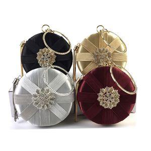 Luxury tassel Casual women's round diamond Simple evening dress bag ladies elegant dress bag handbag bridal Handbags and Purses