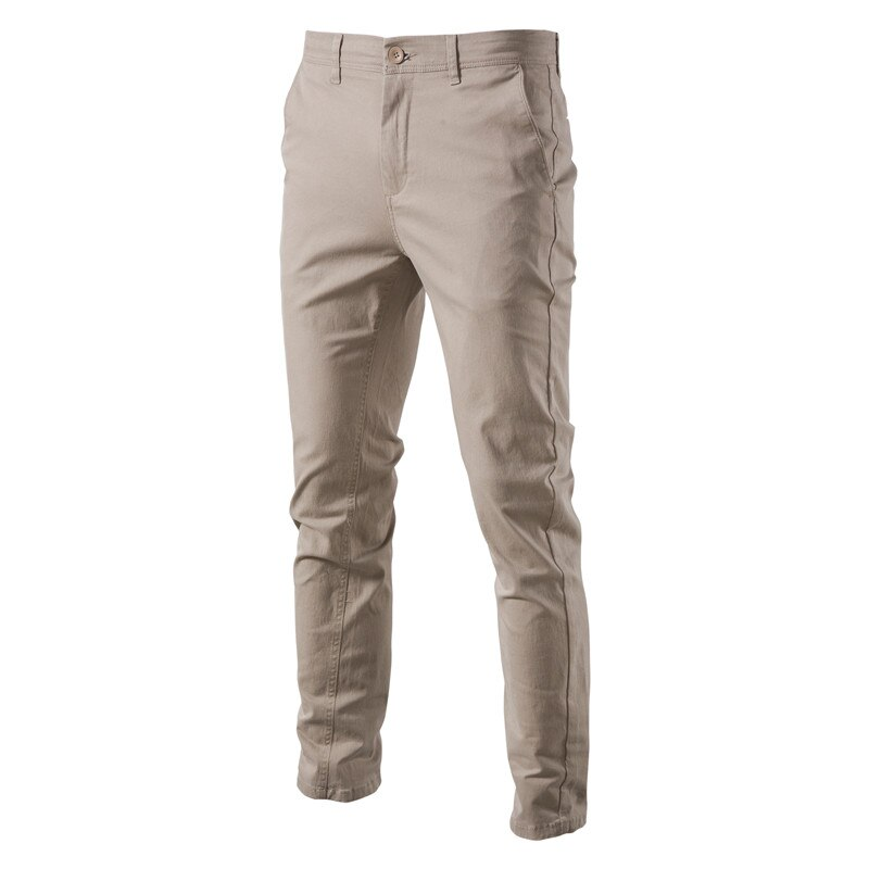 AIOPESON Casual Cotton Men Trousers Solid Color Slim Fit Men's Pants New Spring Autumn High Quality Classic Business Pants Men