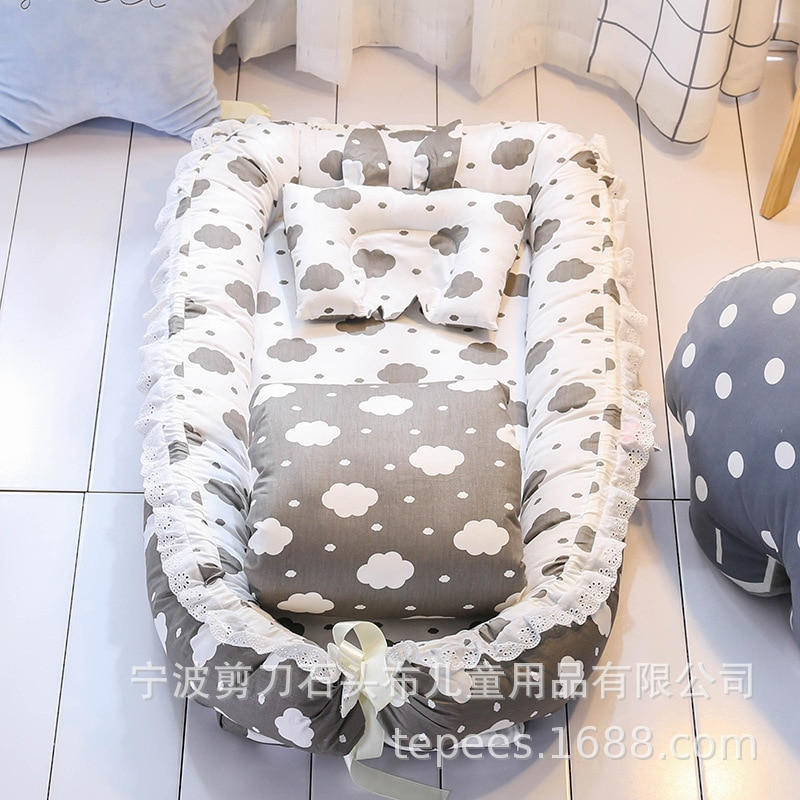 Best Selling Practical Crib Bed with Removable and Washable Quilt Baby Isolation Bed Newborn Bionic Bed Fully Removable Design enlarge