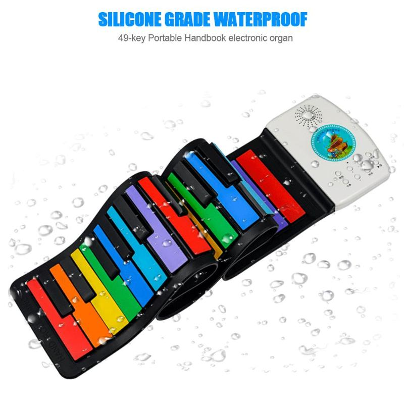 49 Keys Digital Keyboard Flexible Roll Up Piano Gift with Loud Speaker Electronic Hand Roll Piano for Music Lovers Kids Child enlarge