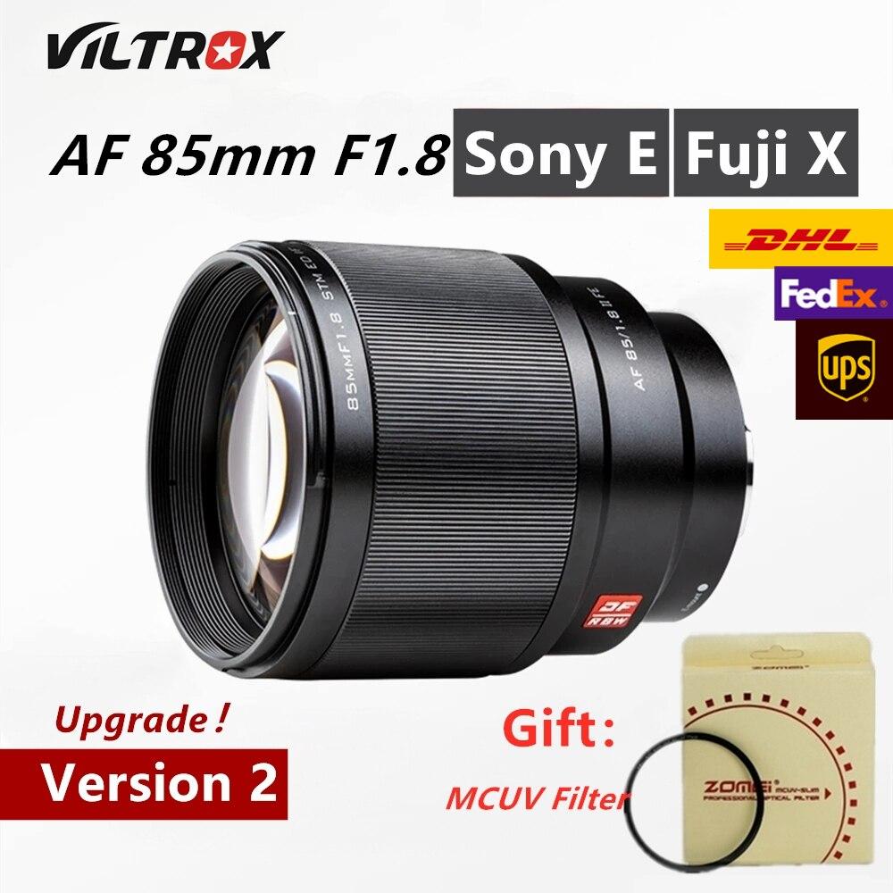 Viltrox 85 мм f1.8II STM Автофокус Полнокадровый портретный объектив с фиксированным фокусным расстоянием для цифровой фотокамеры Fuji X Крепление Камера X-T3 X-H1 X20 X-T30 X-T20 X-T100 XPro2