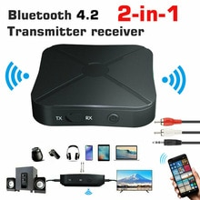 2 IN 1 Real Stereo Bluetooth 4.2 Receiver Transmitter Bluetooth Wireless Adapter Audio With 3.5MM AU