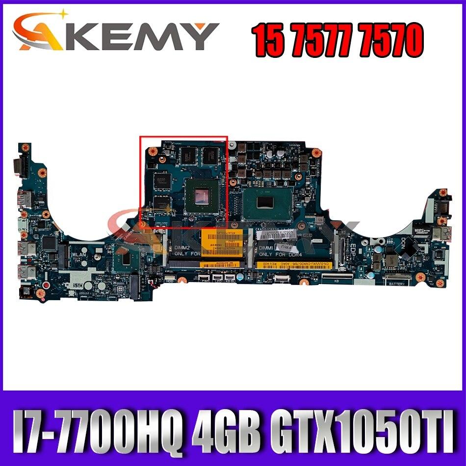 I7-7700HQ 4GB GTX1050TI لديل انسبايرون 15 7577 7570 اللوحة CKA50 CKF50 LA-E991P CN-0NGX46 NGX46 اللوحة 100% اختبار