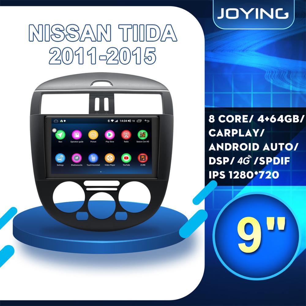 "9 ""IPS Android 8,1 HD coche DVD Radio Estéreo para Nissan Tiida 2011, 2012, 2013, 2014, 2015 GPS reproductor Multimedia volante BT WIFI"