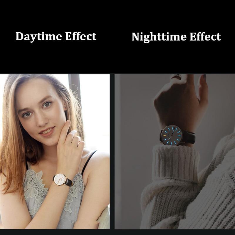 Montre Femme Homme CARNIVAL Watches Men Women Couple Lover's Fashion Tritium Self Luminous Ultra Thin Quartz Wristwatch Clock enlarge