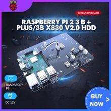 "Raspberry Pi 2 3 B + Plus/3B X830 V2.0 HDD Expansion Board w/Veilig Shutdown Functie, 3.5 ""SATA HDD Opslag Module B+ Pi 3 Mode B"
