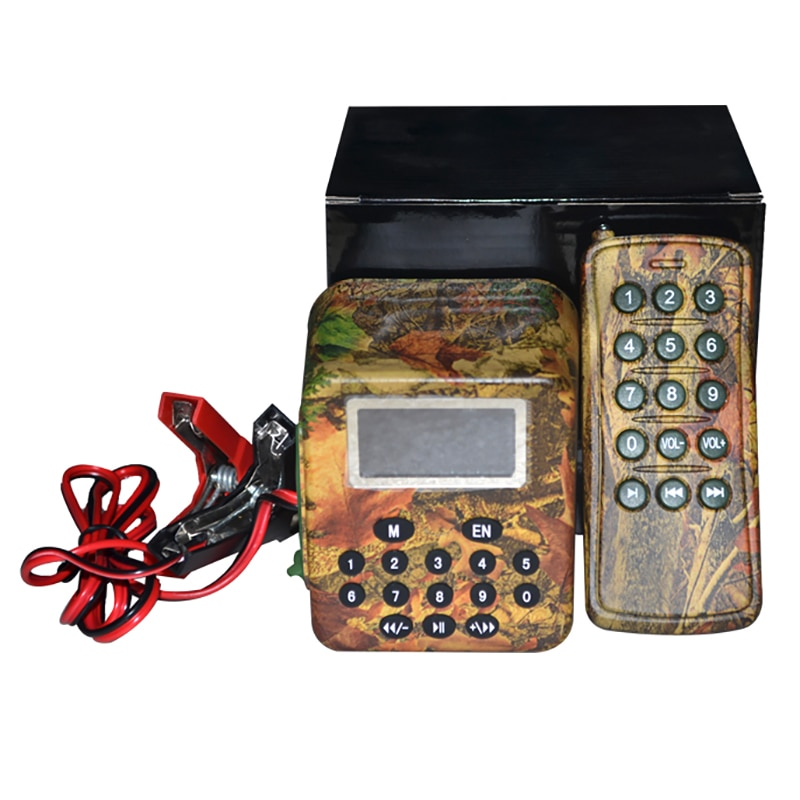 ¡Oferta! Dispositivo de caza de 50W para exteriores, amplificador MP3 con sonido de señuelo de ganso y pato, inalámbrico, Control Remoto + temporizador, equipo de caza de encendido/apagado