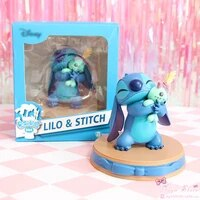 disney movie figures lilo stitch stitch scrump happiness moment pvc statue action figure collectible anime model toy doll gift