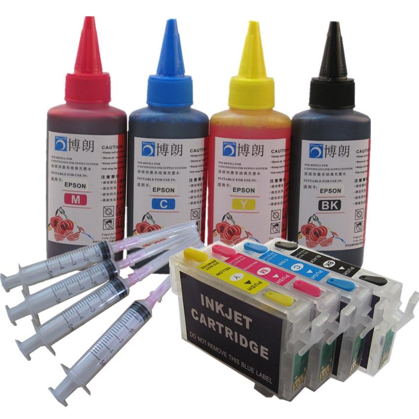 مجموعة إعادة تعبئة الحبر T0711 711 ، لطابعة إبسون SX215 SX218 SX400 SX405 WiFi SX410 SX415 SX510W SX515W