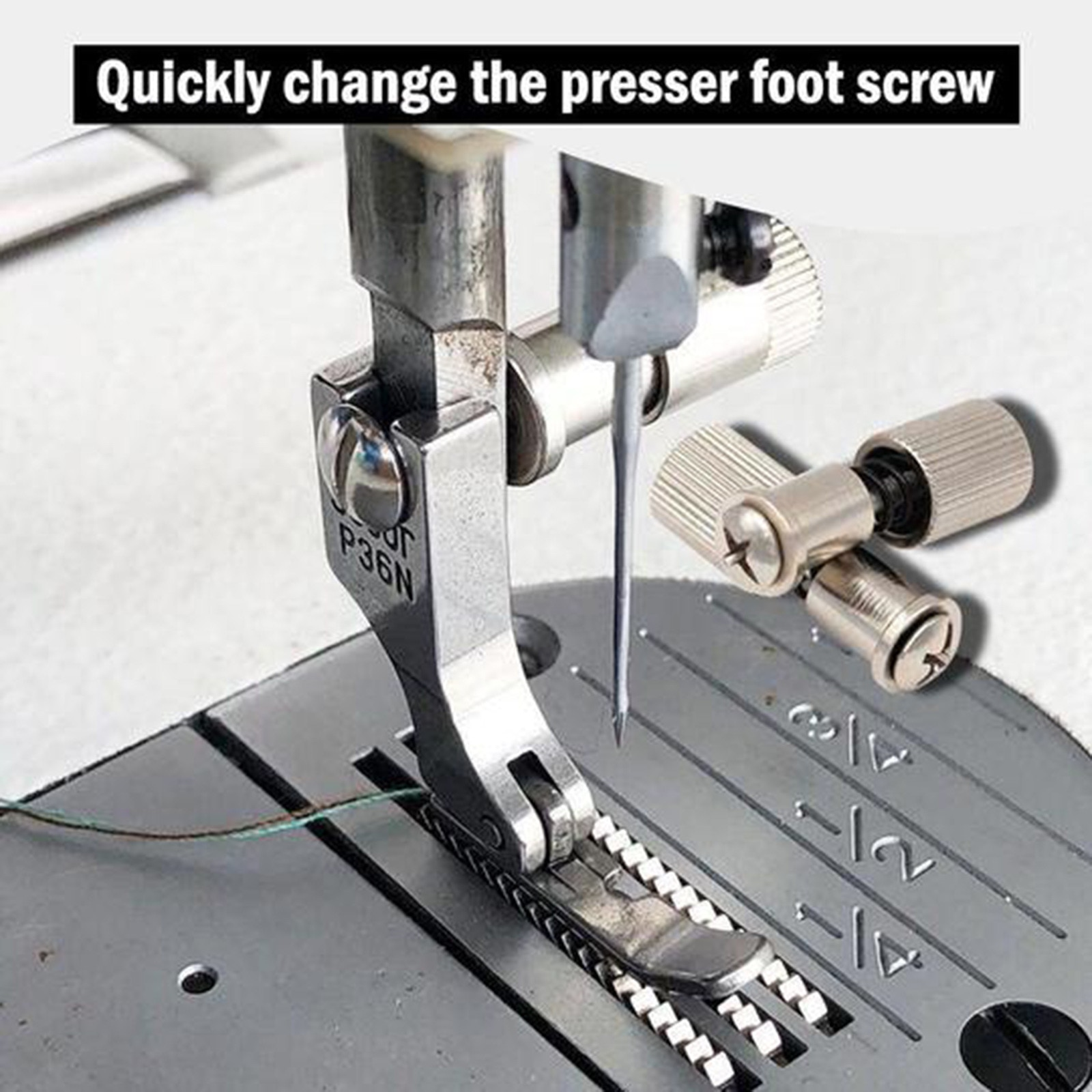 Nueva costura prensatelas para máquina, fácil de reemplazar, tornillo, abrazadera de resorte,...