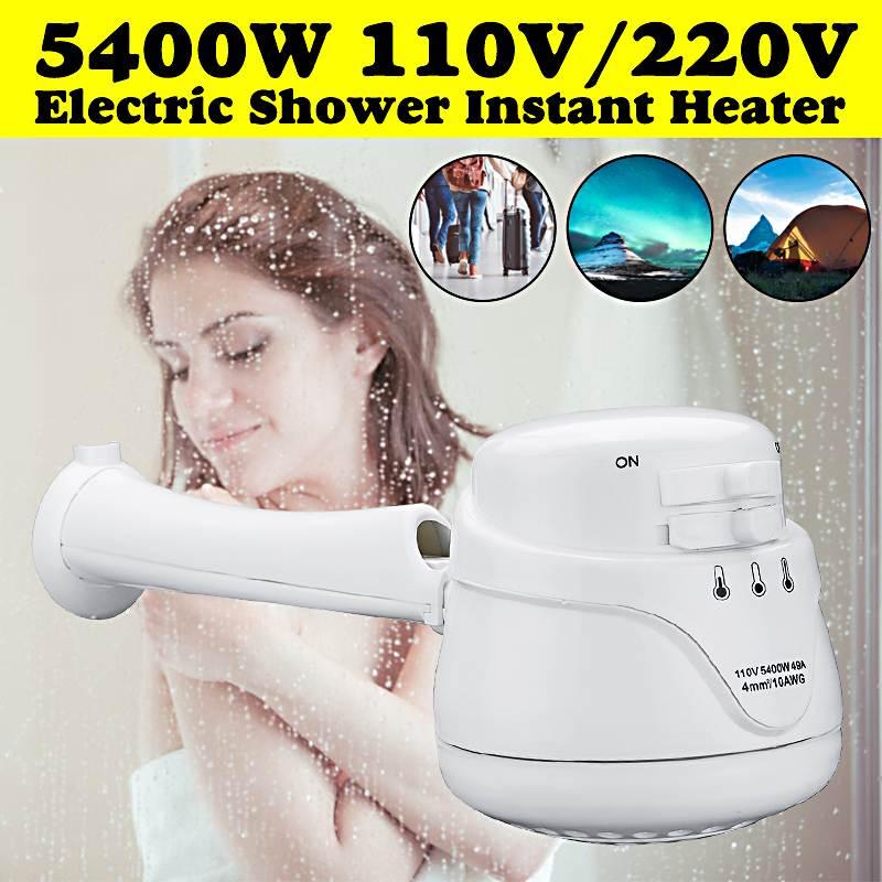 Cabezal de ducha eléctrico de alta potencia 110 V/220 V calentador de agua instantáneo 5.7ft soporte de manguera 2300W Controller 5400W controlador de temperatura