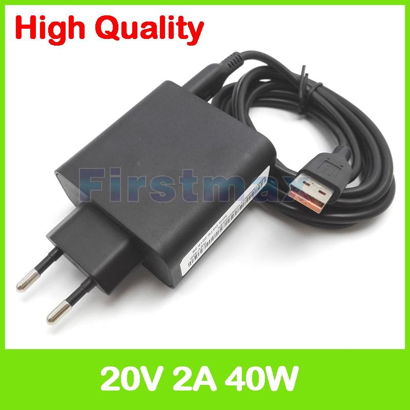 20 فولت 2A 5.2 فولت 2A USB التيار المتناوب الطاقة محوّل لأجهزة لينوفو اليوغا 3 برو 13-I5Y70 13-I5Y71 اللوحي شاحن ADL40WDG 36200577 36200578 الاتحاد الأوروبي التوصيل