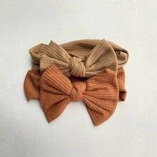 Diadema elástica de lazo acanalado para bebé, accesorios para el cabello para niñas y niños, turbante de punto, diadema súper suave