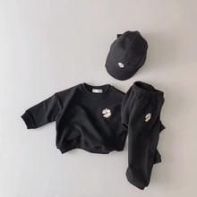 3329 printemps Daisy Sweatershirt et pantalon loisirs sport costume chapeau non inclus garçons et filles vêtements ensemble enfants 2 pièces costume