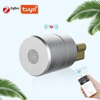 טביעת אצבע טלפון חכם שליטת מנעול גוף נירוסטה Lockbody Tuya גישה נעילת Core עבור דלת מנעול שינוי שדרוג
