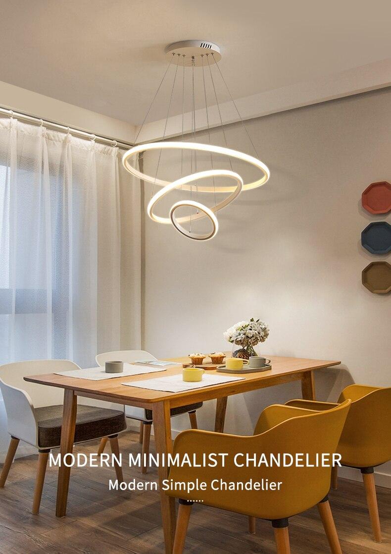 الحديثة led الثريا الثريا حلقة ثريا تركب بالسقف الإضاءة غرفة المعيشة غرفة الطعام مصابيح