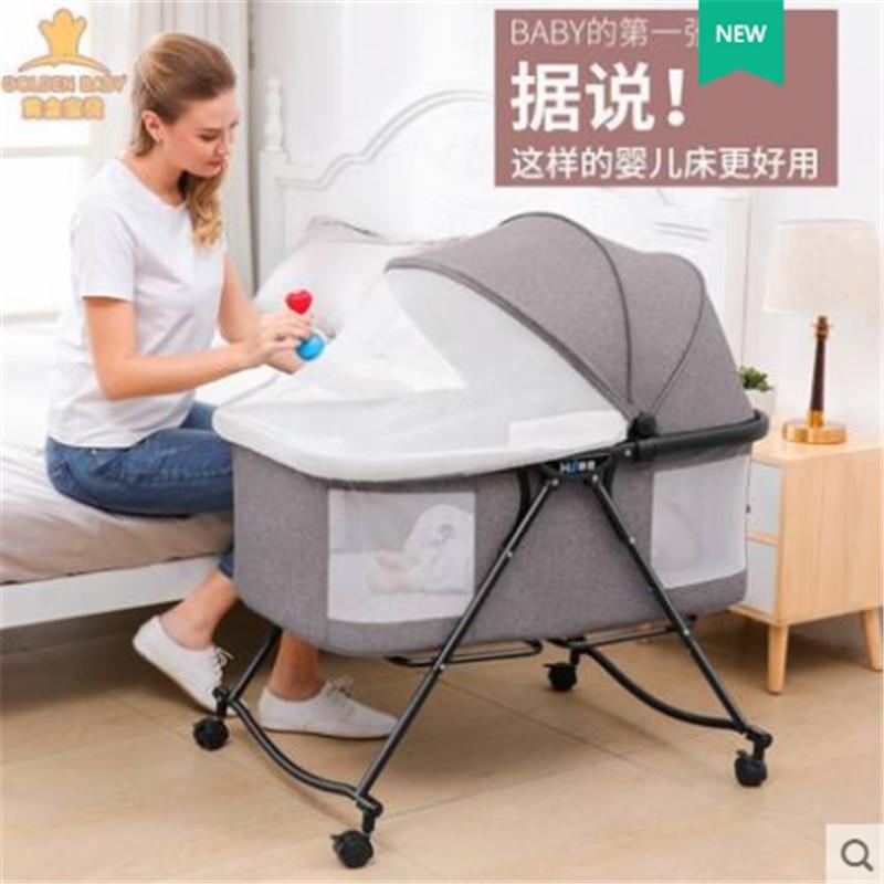 Портативная складная кроватка для новорожденных, переносная корзина для кровати, маленькая кроватка-качалка для сна