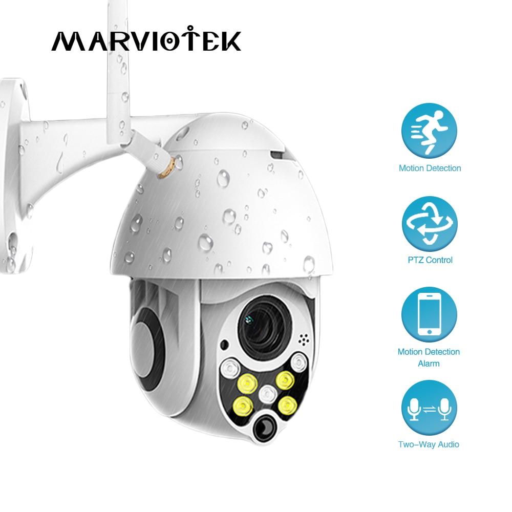 كاميرا مراقبة IP على شكل قبة خارجية IP Wifi hd 1080P ، جهاز أمان منزلي لاسلكي ، مع تتبع تلقائي ، كاميرا فيديو صغيرة P2P IR