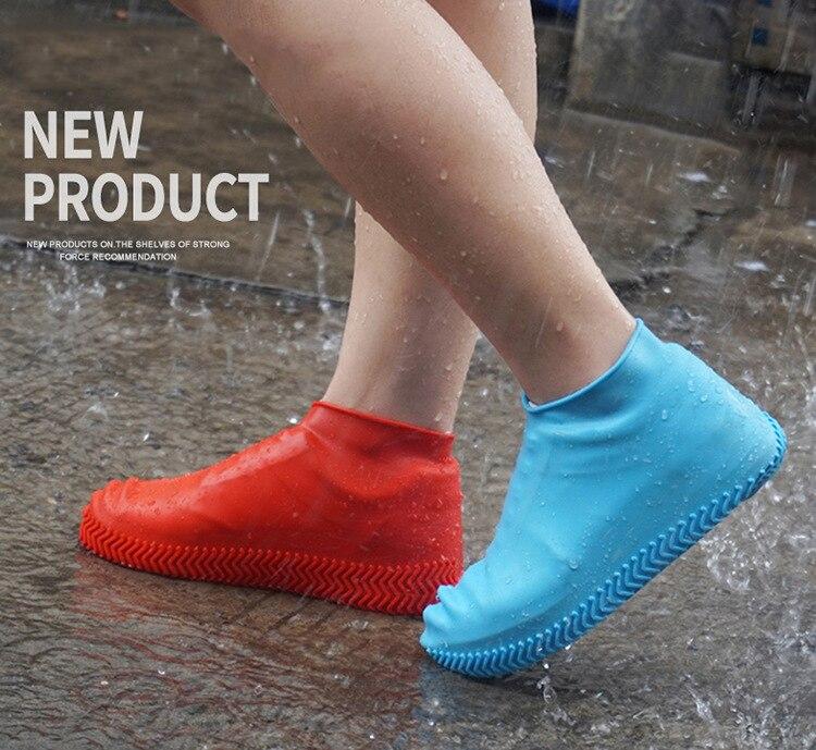 Styliste de cheveux imperméable à leau couvre-chaussures Silicone matériel unisexe chaussures protecteurs bottes de pluie pour intérieur extérieur jours de pluie TXTB1