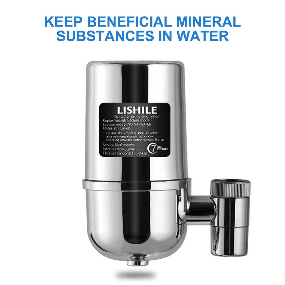 Faucet Water Filter Kitchen Sink Mount Purifying System Tap Water Purifier Microns Filtration Accuracy Percolator Carbon Filter