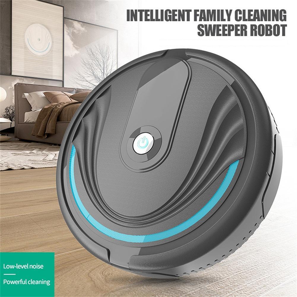 1 unidad de Robot aspirador portátil de limpieza inteligente y eficiente para el hogar, limpiador de polvo fácil de usar