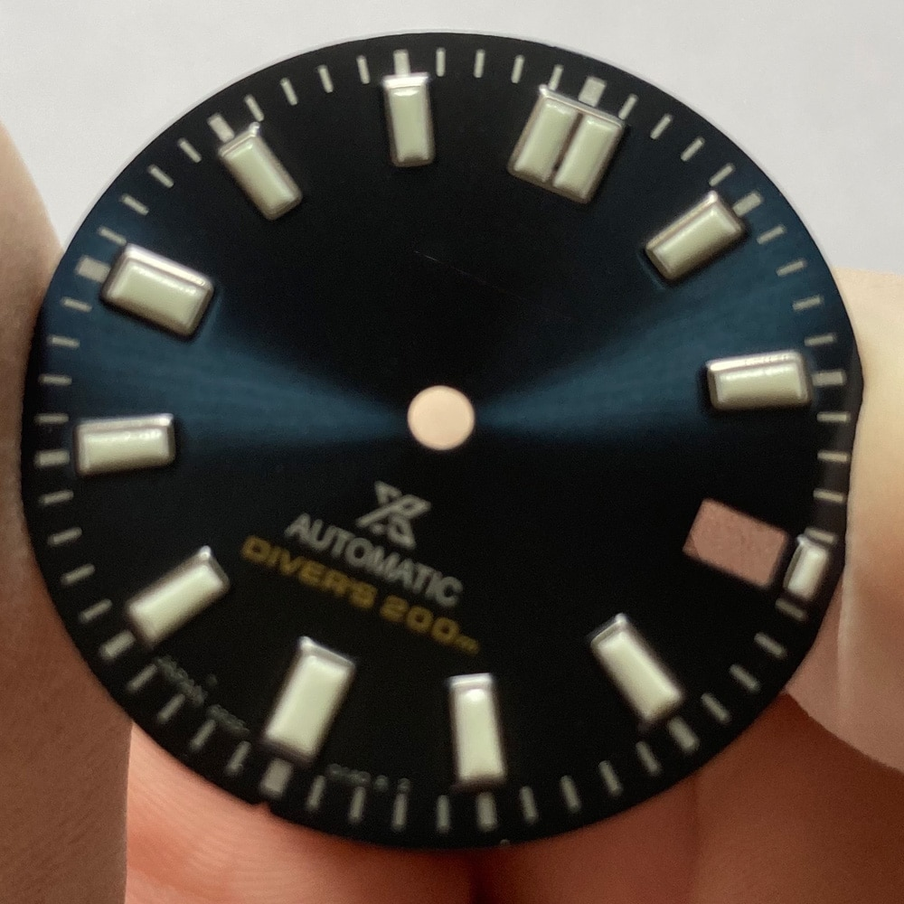 Watch Parts 28.5mm Blue/White Dial Luminous Marks Date Window Suitable For Japan NH35/36 Automatic Movement enlarge
