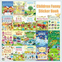 Libro adhesivo de escena para niños en inglés, imagen de aprendizaje, juego de pegar, juguetes y pasatiempos