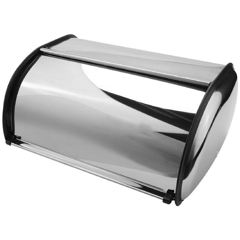 الفولاذ المقاوم للصدأ دائم بسيط الخبز صندوق الخبز صندوق تخزين ل فندق مخزن المنزل مرآة المواد صندوق تخزين الخبز صندوق تخزين 1 قطعة