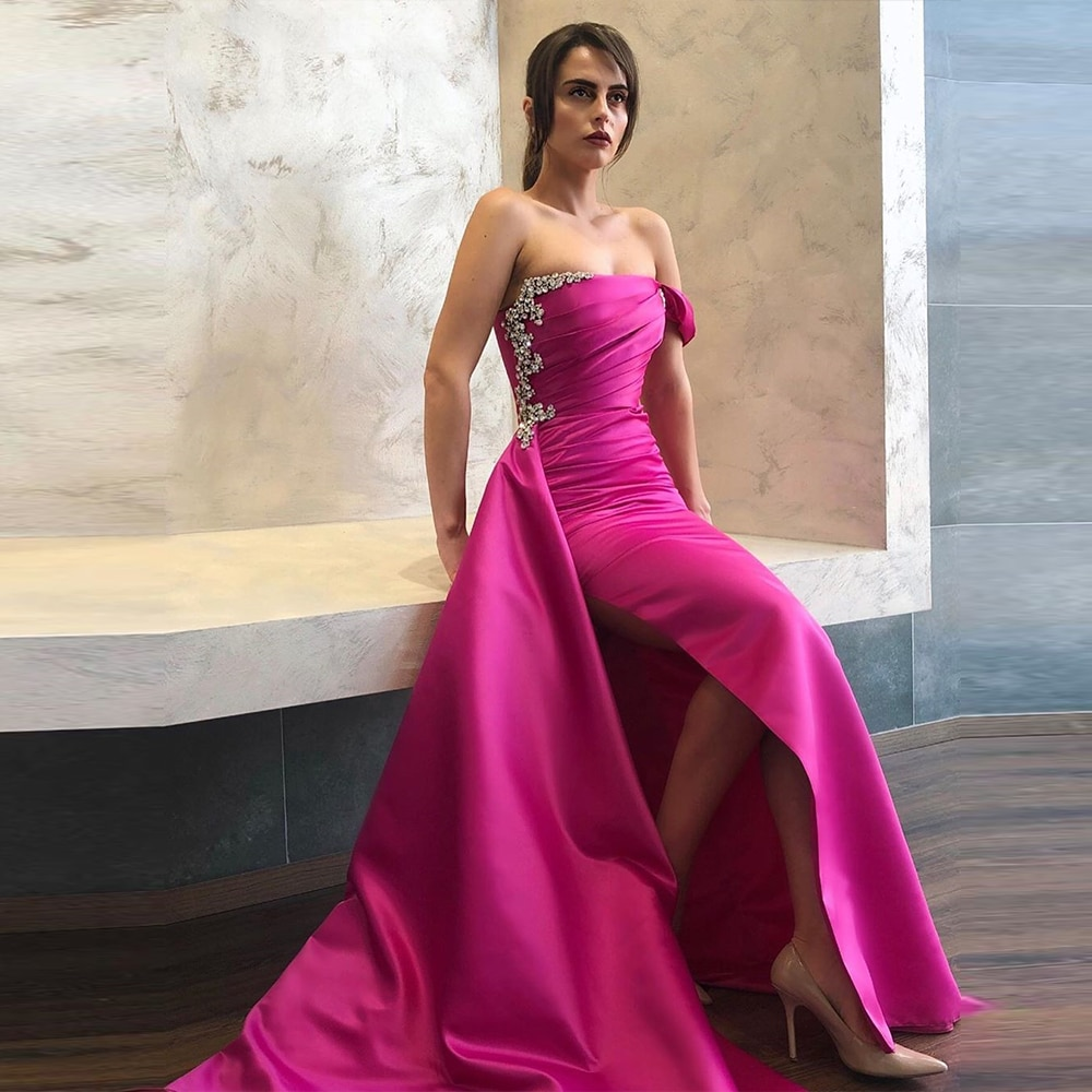 Bbonlinedress вечерние платья-русалки 2020, Длинные вечерние платья без бретелек с кристаллами и бисером, элегантное платье для выпускного вечера