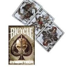Vélo Cybertech cartes à jouer Poker taille Deck USPCC personnalisé édition limitée cartes magiques accessoires de magie tours de magie pour magicien