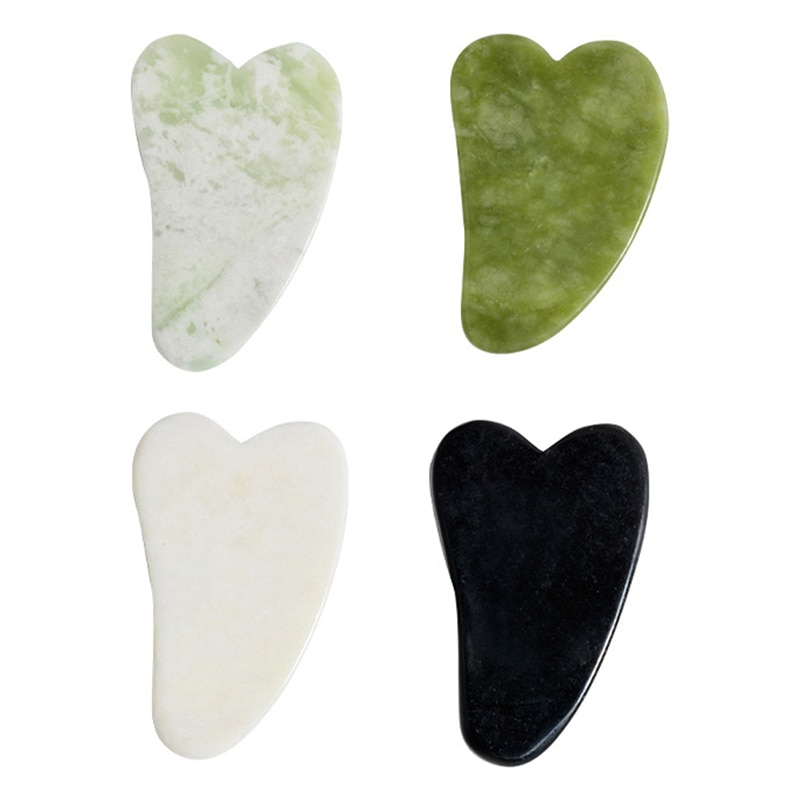Jade Guasha Massage Board Natural Stone Gua Sha Scraper Beauty Tool Health Care Meridian Scraping Pl